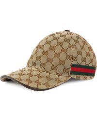 Gucci Original GG Canvas Baseball Hat With Web - Multicolour