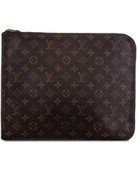 Louis Vuitton Папка Для Документов Poche Document Pre-owned С Монограммой - Коричневый