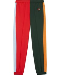 Burberry Logo Graphic Color Block Jersey Trackpants - Green
