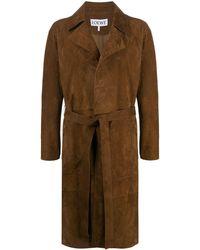Loewe Wrap-front Trench Coat - Brown