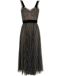 Ralph & Russo Pearl-embellished Silk Bustier Dress - Black