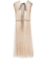 Khaite Sheer Polka Dot Dress - Multicolor
