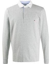Tommy Hilfiger ロゴ ポロシャツ - グレー
