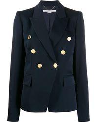Stella McCartney デコラティブボタン ジャケット - ブルー