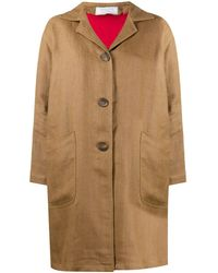 Societe Anonyme Button Down Patch Pocket Coat - Brown