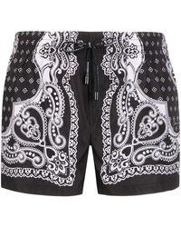 Dolce & Gabbana Zwembroek Met Print - Zwart