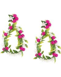 Mercedes Salazar Fiesta Earrings - Green