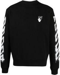 Off-White c/o Virgil Abloh Spray Arrow Sweatshirt - Black
