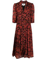 Ba&sh Aline フローラル ドレス - ブラック