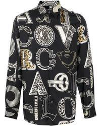 Roberto Cavalli Рубашка С Принтом Cavalli Mania - Черный