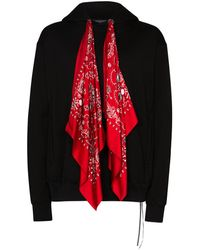 Mastermind Japan Sudadera con capucha y motivo de bandana - Negro