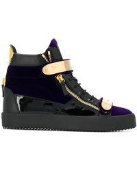 Giuseppe Zanotti - Hi-top Lace Up Sneakers - Lyst