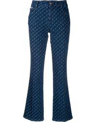 Stella McCartney ロゴ フレアジーンズ - ブルー