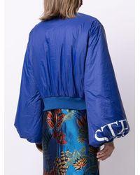 Stella Jean Logo-print Padded Bomber Jacket - Blue