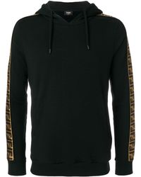 Fendi Logo Panel Hoodie - Zwart