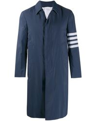 Thom Browne Unconstructed Overcoat - Blue