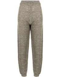 Forte Forte Lurex Knitted joggers - Metallic