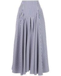 Rosetta Getty - Long Ruffled Skirt - Lyst