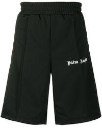 Palm Angels ロゴ トラックショートパンツ - ブラック