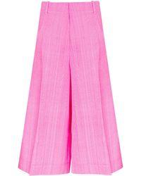 Jacquemus Pink Le Short D'homme Silk Cotton Culotte Trousers