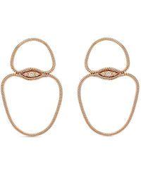 Fernando Jorge Petites boucles d'oreilles en or rose 18ct à diamants - Métallisé