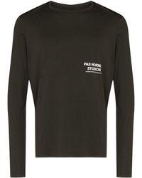 Pas Normal Studios T-shirt a maniche lunghe Balance - Verde