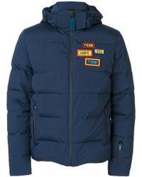 Fendi - Patch Detail Padded Jacket - Lyst