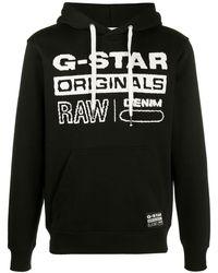 G-Star RAW ロゴ パーカー - ブラック