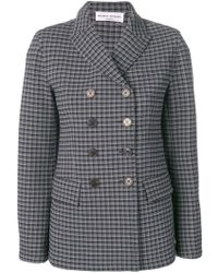 Sonia Rykiel - Check Buttoned Blazer - Lyst