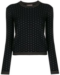 Twin Set - Mini Stud Fitted Sweater - Lyst