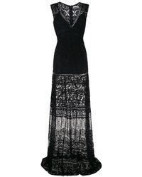 Martha Medeiros Yana レースドレス - ブラック