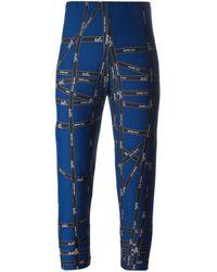 Hermès Леггинсы С Принтом-логотипом Pre-owned - Синий