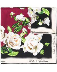 Dolce & Gabbana Foulard Met Print - Rood