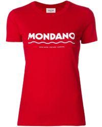WOOD WOOD - Logo Print T-shirt - Lyst