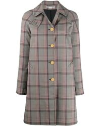 Stella McCartney Single-breasted Check Coat - Black