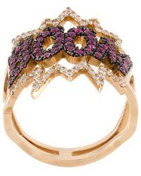 Diane Kordas Boom Ring - Metallic