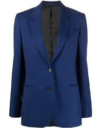 Paul Smith A Suit To Travel シングルジャケット - ブルー