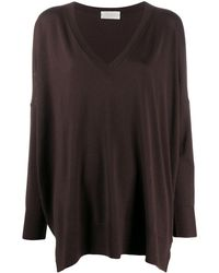 Zanone Oversized Batwing Sleeve Jumper - Brown