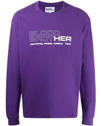 Blood Brother グラフィック Tシャツ - パープル