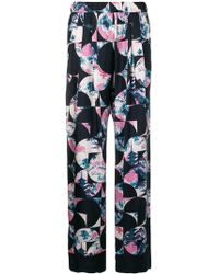 ODEEH - Blossom Flowers Print Trousers - Lyst