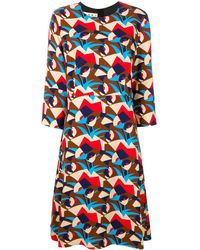 Marni Mini vestito con pattern Henne - Multicolore