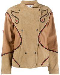Etro Куртка С Вышивкой - Коричневый