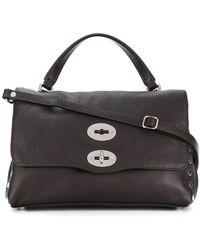 Zanellato Handtasche mit Klappdeckel - Braun