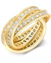 Cartier Anello Present Day Trinity 1961 in oro 18kt con diamante - Metallizzato