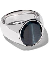 Tom Wood Ring Met Ovalen Haviksoog - Metallic
