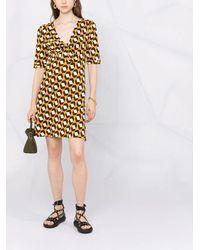 Diane von Furstenberg Трикотажное Платье С Геометричным Узором - Желтый