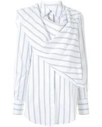 Acler Bradey ストライプシャツ - ホワイト