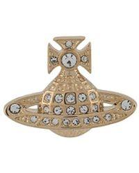 Vivienne Westwood Crystal Orb Earrings - Metallic