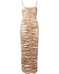 Georgia Alice Eva シャーリング イブニングドレス - ブラウン