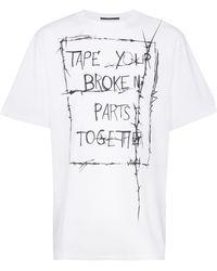 Haider Ackermann Camiseta de manga corta con eslogan - Blanco